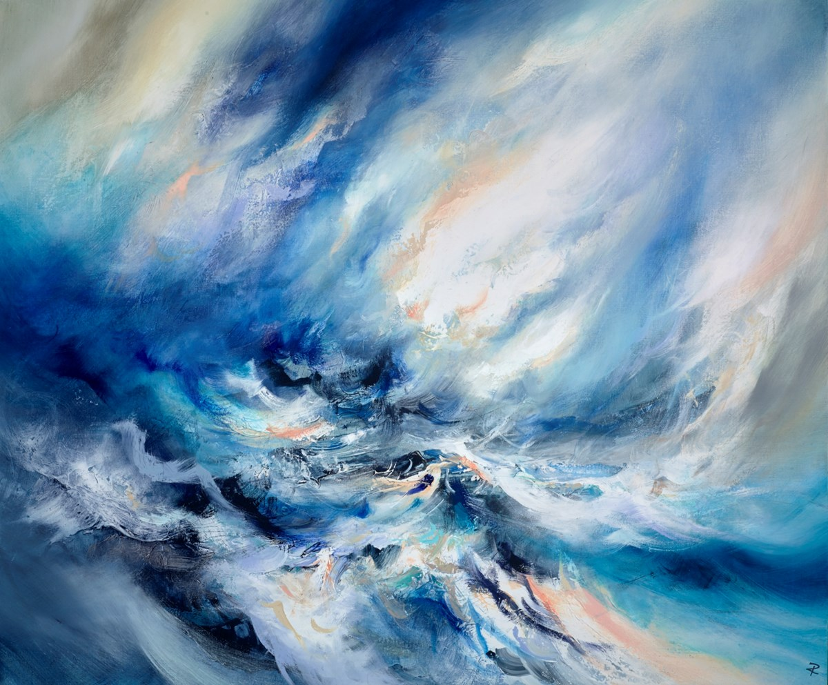 Fusing Tides by chris and steve rocks -  sized 47x39 inches. Available from Whitewall Galleries